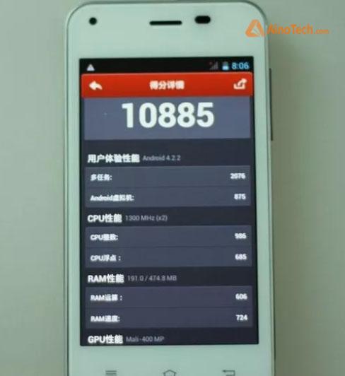 Производительность Jiayu f1 в AnTuTu