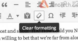 Кнопка очистить форматирование в WordPress