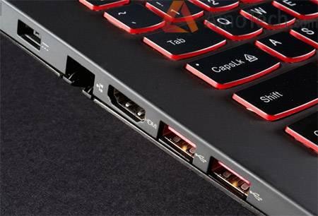 порты, коммуникация, разъемы, Lenovo IdeaPad Y510
