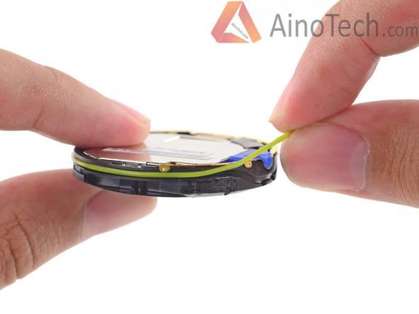 Снятие резинового уплотнителя (кольца)