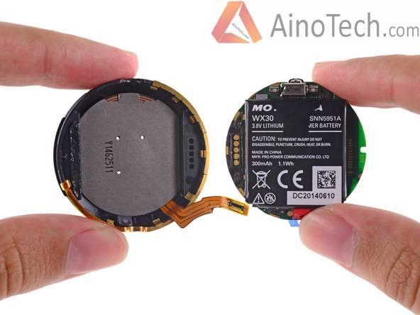 аккумуляторная батарея часов Moto 360
