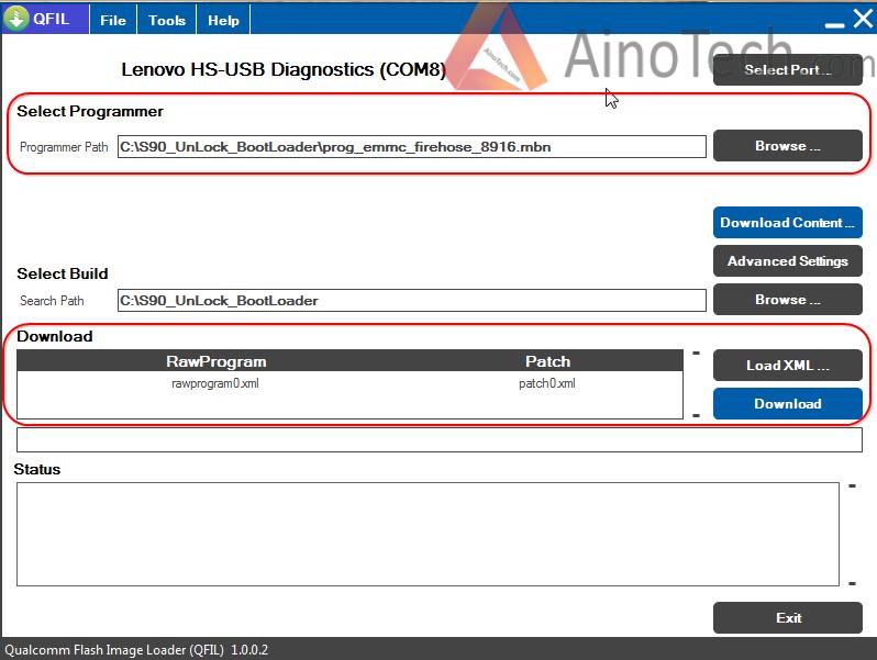QFIL, Lenovo Sisley - Unlocking BootLoader - Lenovo S90 - custom firmware