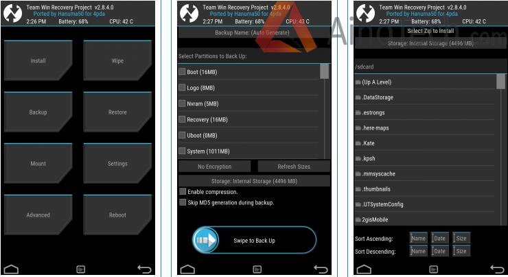 TWRP Recovery on Jiayu S3