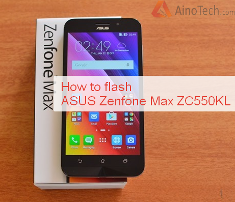 How to flash firmware ASUS Zenfone Max ZC550KL, root, custom TWRP