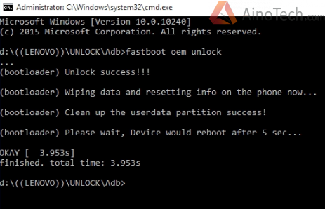 Unlock.cmd lenovo p2